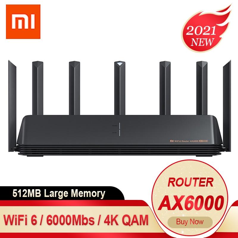 2021 جديد شاومي MI AX6000 AIoT راوتر واي فاي 6 راوتر 6000Mbs 4K QAM VPN 512MB MU-MIMO كوالكوم وحدة المعالجة المركزية شبكة لاسلكية واي فاي مكرر