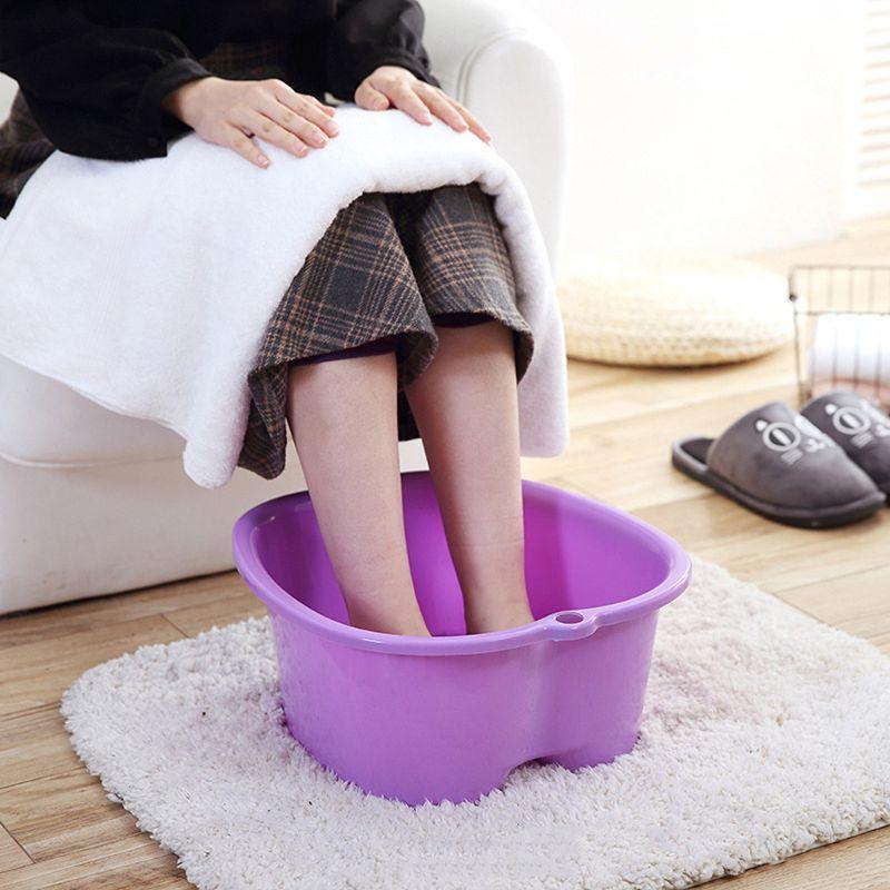 Пластиковая большая ванна для ног, спа-ванна, раковина, ведро для замачивания ног, Детокс, педикюр, массаж, портативный, 3 цвета, высокое качес...