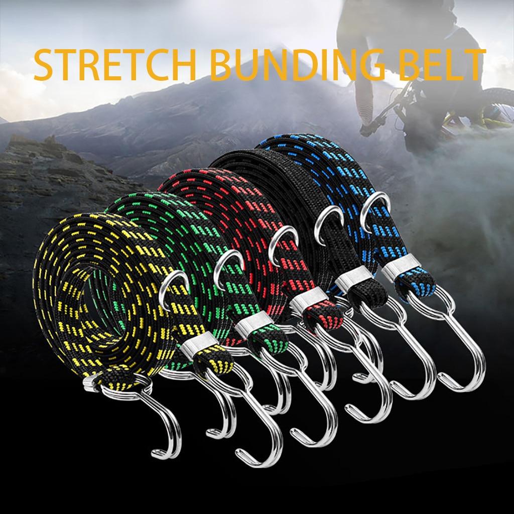 3 metros cabo elástico corda amarrar para baixo cinto de carga bagagem amarração cintas fix para motocicleta bicicleta suv carro telhado carga acampamento ao ar livre