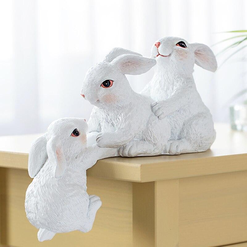 Adornos de joyería de conejo, hogar creativo moderno minimalista, artesanías nórdicas, armario de TV, gabinete de vino, muebles pequeños