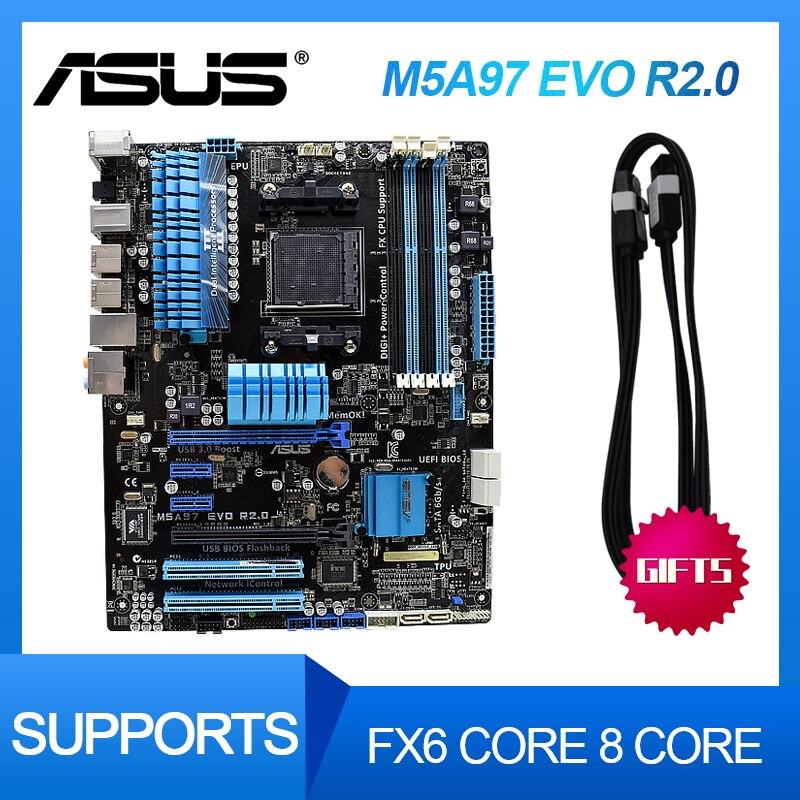 ASUS-placa base M5A97 EVO R2.0 para PC, Original, usada, para AM3 /...