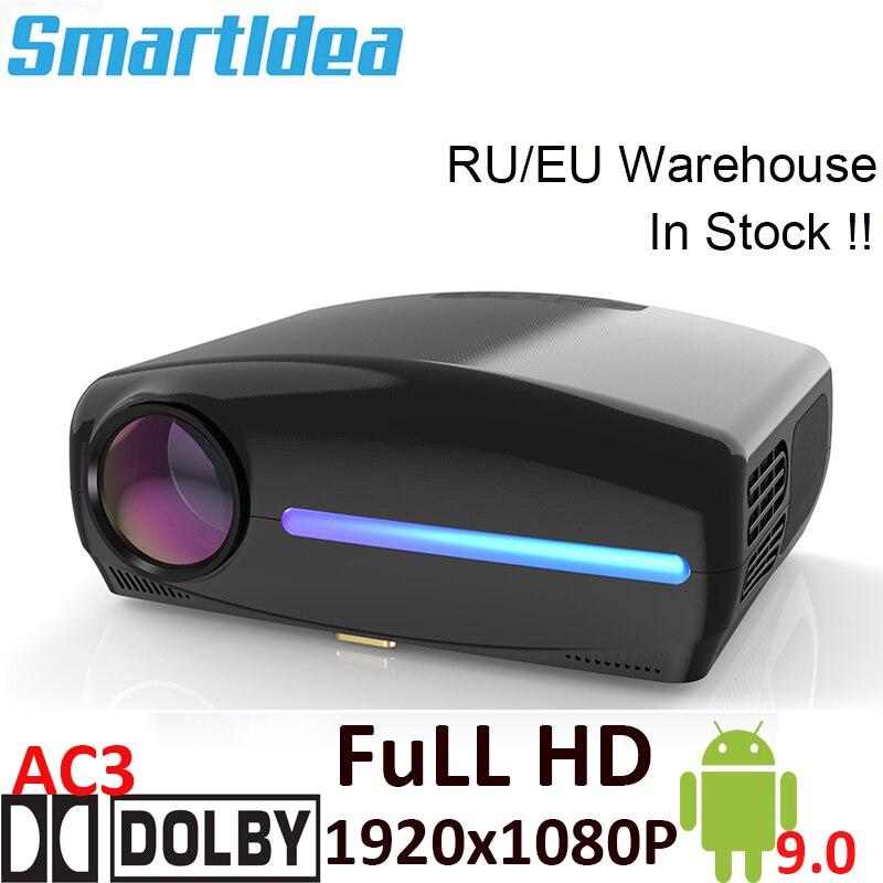 Smartldea S1080 1920*1080P LED Projector, 4D Digital Keystone, Android 9.0 WiFi Optional, Full HD Smart Proyector,3D Home Beamer