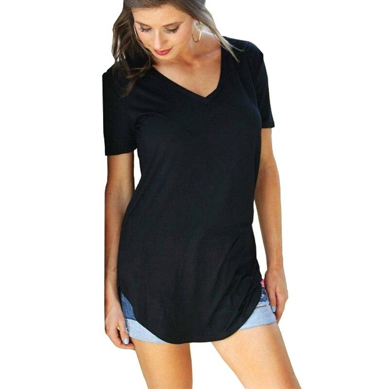 Camiseta de algodón con cuello redondo, camiseta de manga corta para mujer, camiseta negra harajuku