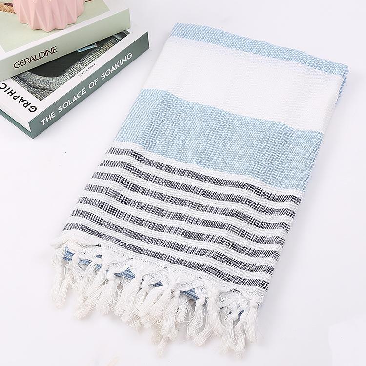 51 toallas turcas de playa, toallas de algodón a rayas de hilo teñido, Toalla de baño delgada, protector solar, toallas de muselina para adultos Peshtemal