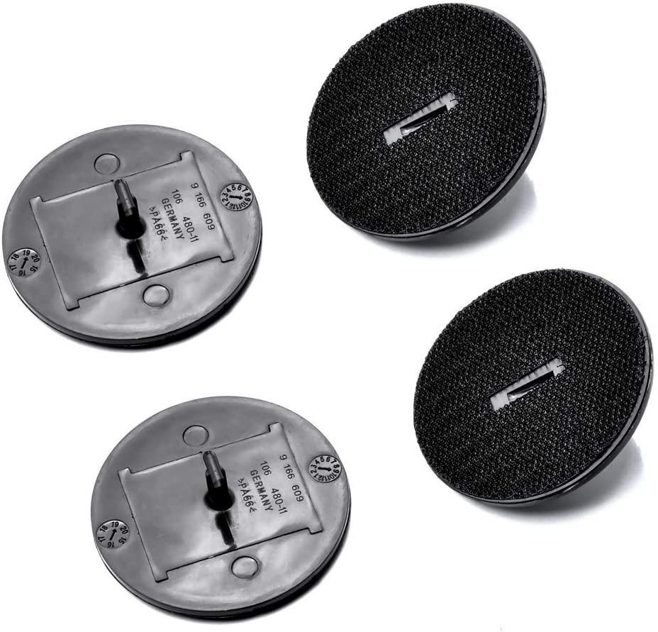 QEEPEI 4 Uds Velcro elemento alfombras de piso conector de rosca de tornillo OEM 07149166609
