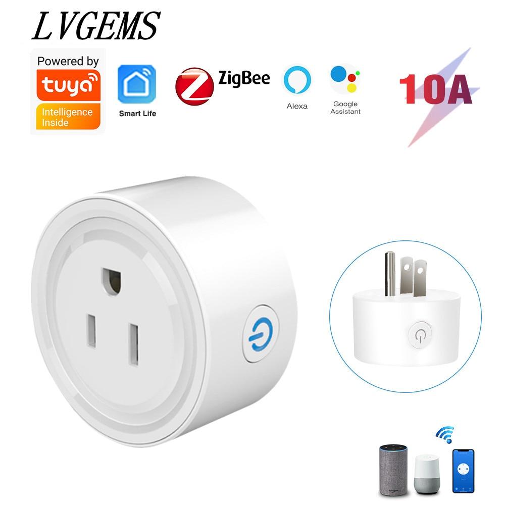 AliExpress - Tuya ZigBee Smart Plug Socket US Plug Power Monitor Works With Alexa Google Home