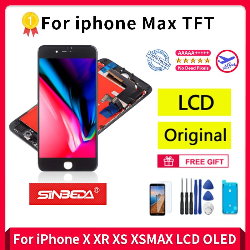 Wholesale ForiPhone Max TFT 10Pcs/lot Original Touch Screen Replacement,  lcd True Key Without Dead Pixel, 100% Detection