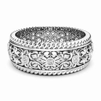 hot sale european and american fashion double row micro crystal hollow engraved ladies creative party ring for women jewelry