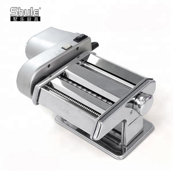 Máquina de massas frescas elétrica com motor para fettuccine e tagliolini