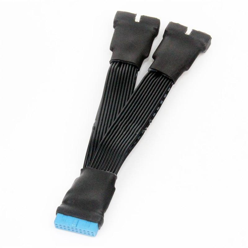 USB 3,0 19Pin/20Pin macho Y hembra a divisor de placa base cable...