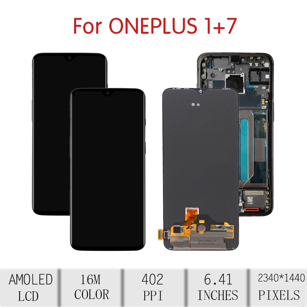 100%ORIGINAL For OnePlus 7 LCD Touch Screen Digitizer Assembly For Oneplus 7 Display with Frame Replacement 1+7 GM1900 GM1901 enlarge