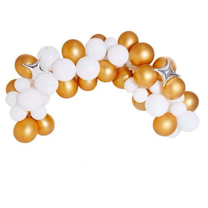 Metalowy chrom złoty niebieski balon pakiet ślub Birthday Party Mall sklep otwarcie festiwalu scena wydarzenie układ wystrój garnitur