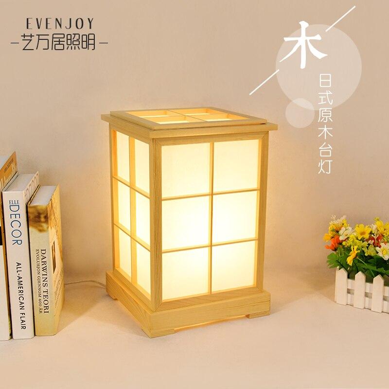 Mongolica registro lámpara de color japonés cama tatami dormitorio, estudio coreano real de madera de la lámpara de luces led bombillas led