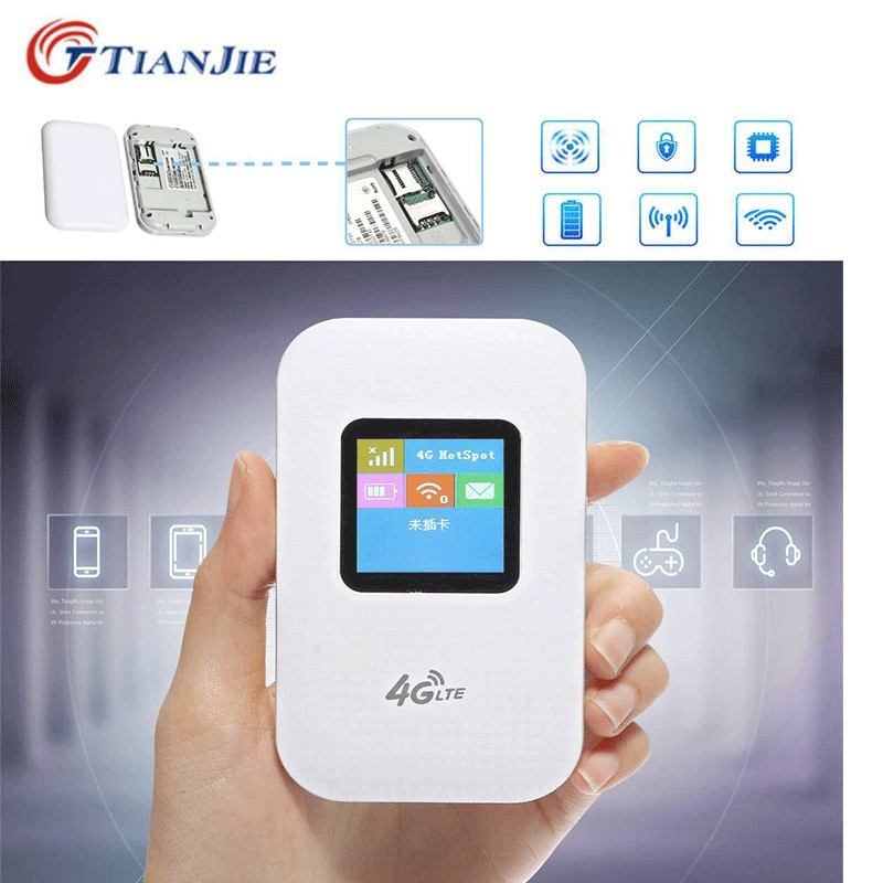 TIANJIE Unlocked MINI/Wireless/Portable 3G/4G Pocket Wifi Router Mobile WiFi Hotspot LTE 150Mbps with SIM Card Slot