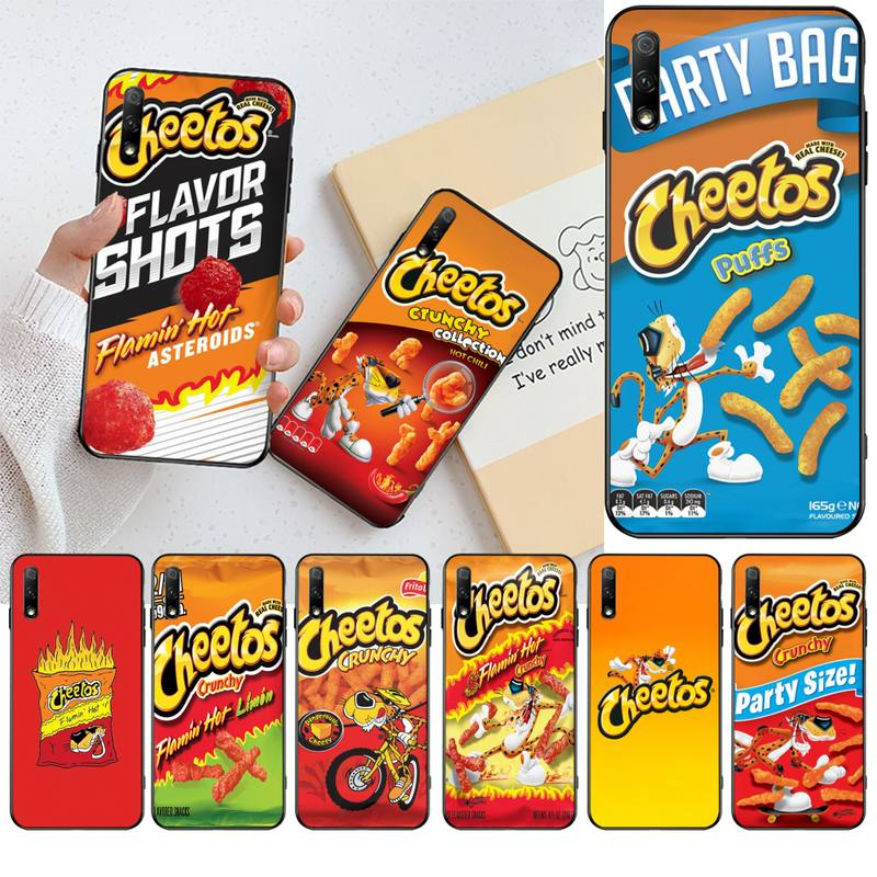 HPCHCJHM hot cheetos suave negro Funda del teléfono carcasa Capa para Huawei Honor 30 20 10 9 8 8x 8c v30 Lite ver pro