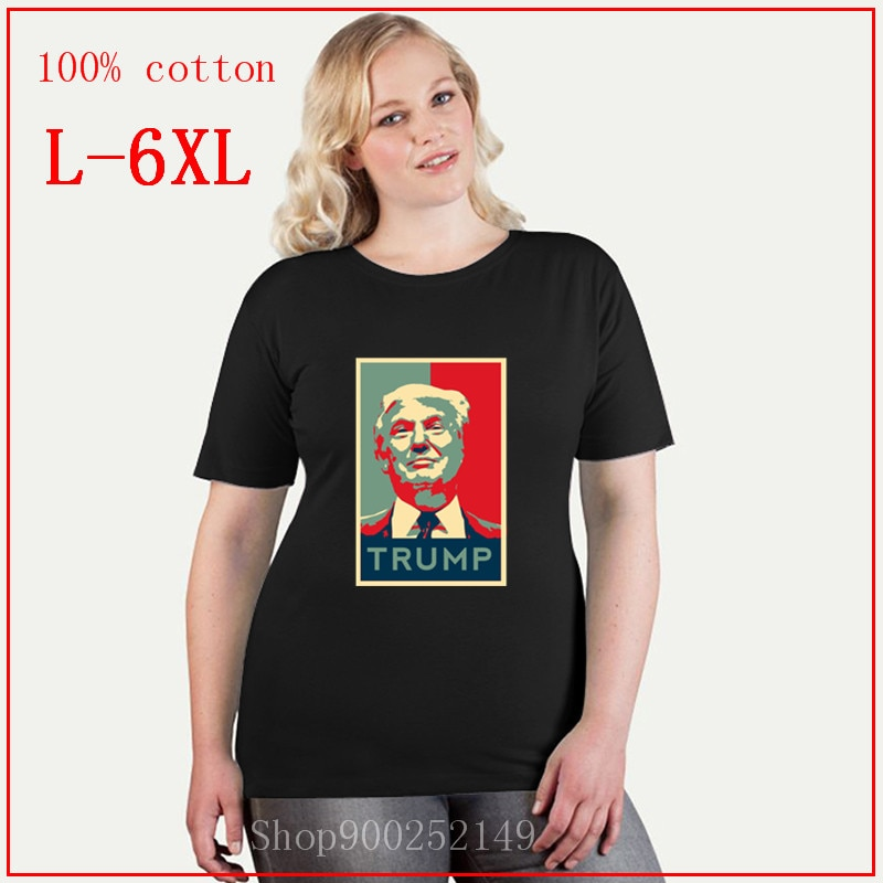 Camiseta divertida de presidente Donald Trump, 2020, retrato femenino de reelección, camiseta de gran tamaño con cara de Trump 2020 para mujer, camiseta 4XL 5XL 6XL