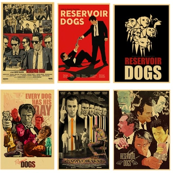 Quentin Tarantino series movie poster Reservoir Dogs kraft paper high quality print home decor retro poster