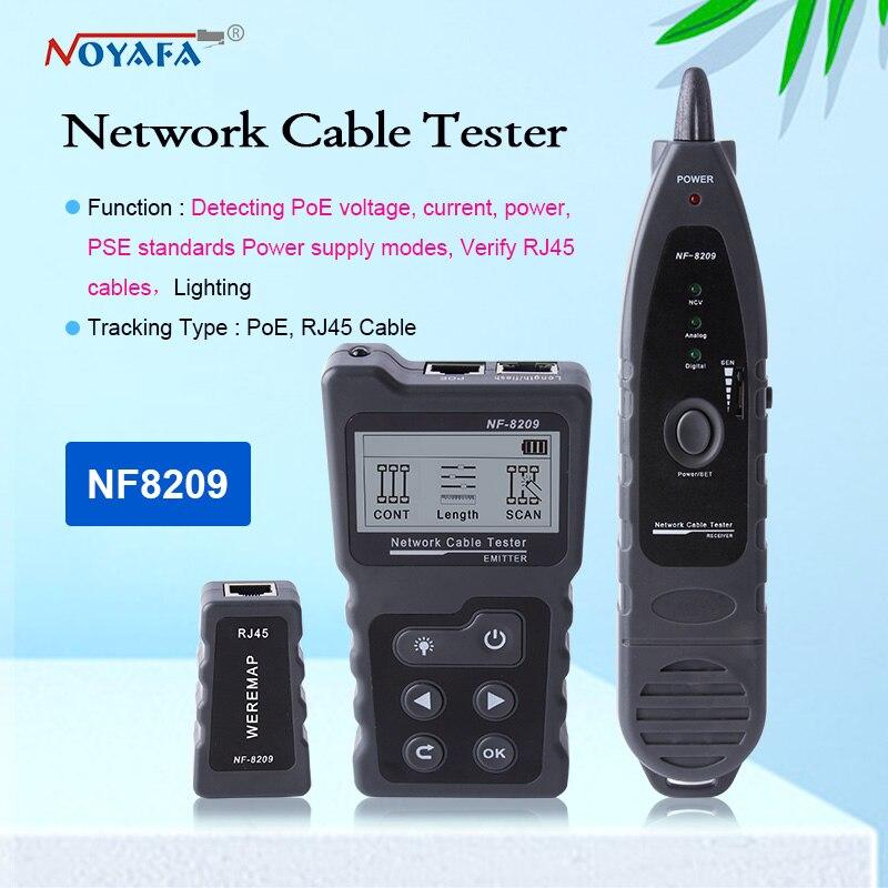 Entrada do Verificador Cat5 do Ponto de Entrada da Rede Lan do Cabo da Varredura do Interruptor do Ponto de Entrada Noyafa Verificador Ethernet do Tester Nf-8209 Cat6