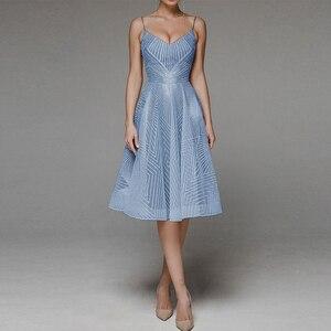 Dresses Women Sleeveless Spaghetti Strap Tulle Square Neck Evening Dresses Elegant Female Evening Party Dress Homecoming Dresses