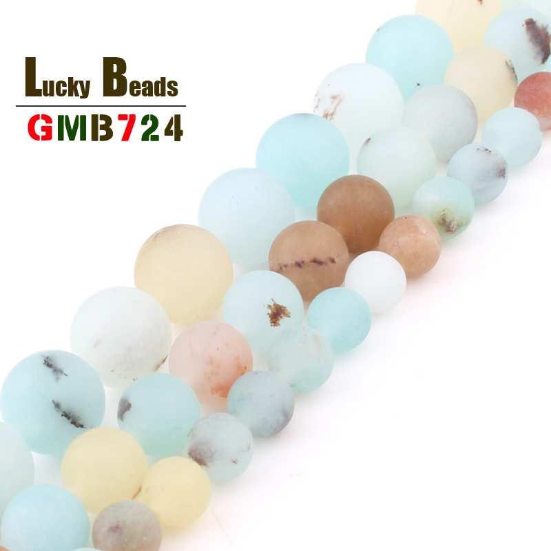 Dull Polonês Matte Black Point Amazon Rodada Beads Natural Pedra Solta Beads Para Fazer Jóias DIY Pulseiras Acessórios 15