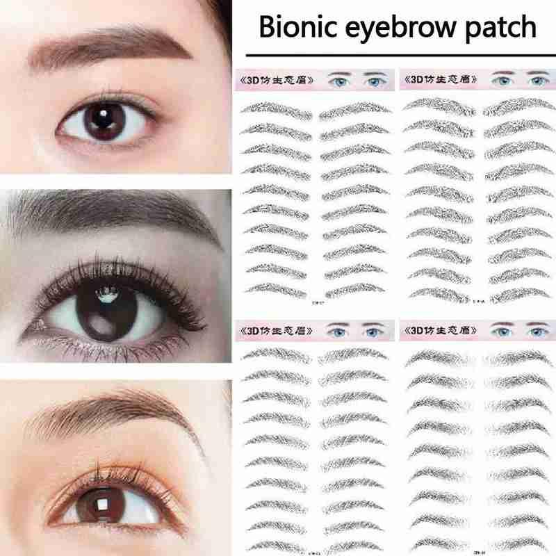 Pegatinas mágicas 6D para cejas postizas, 9 pares, resistentes al agua, duraderas, como el pelo, tatuaje de cejas, pegatinas de ceja a base de agua, cosméticos para ojos