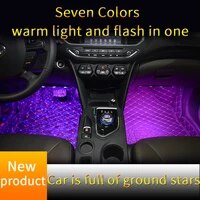 car led atmosphere ambient star rgb colorful remove control light starlights of car seat bottom auto interior decorative lamp
