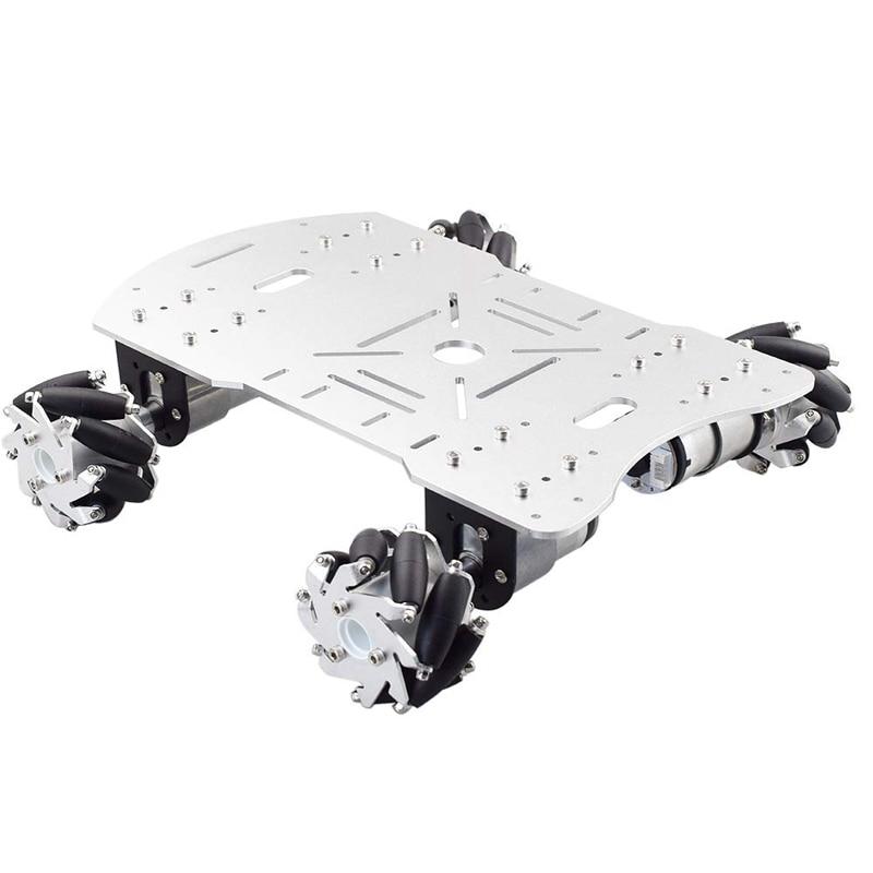 Kit de Robot de ruedas de Mecanum con 4 Uds DC 12V codificador de velocidad chasis de plataforma Robot carga máxima 15KG para Arduino