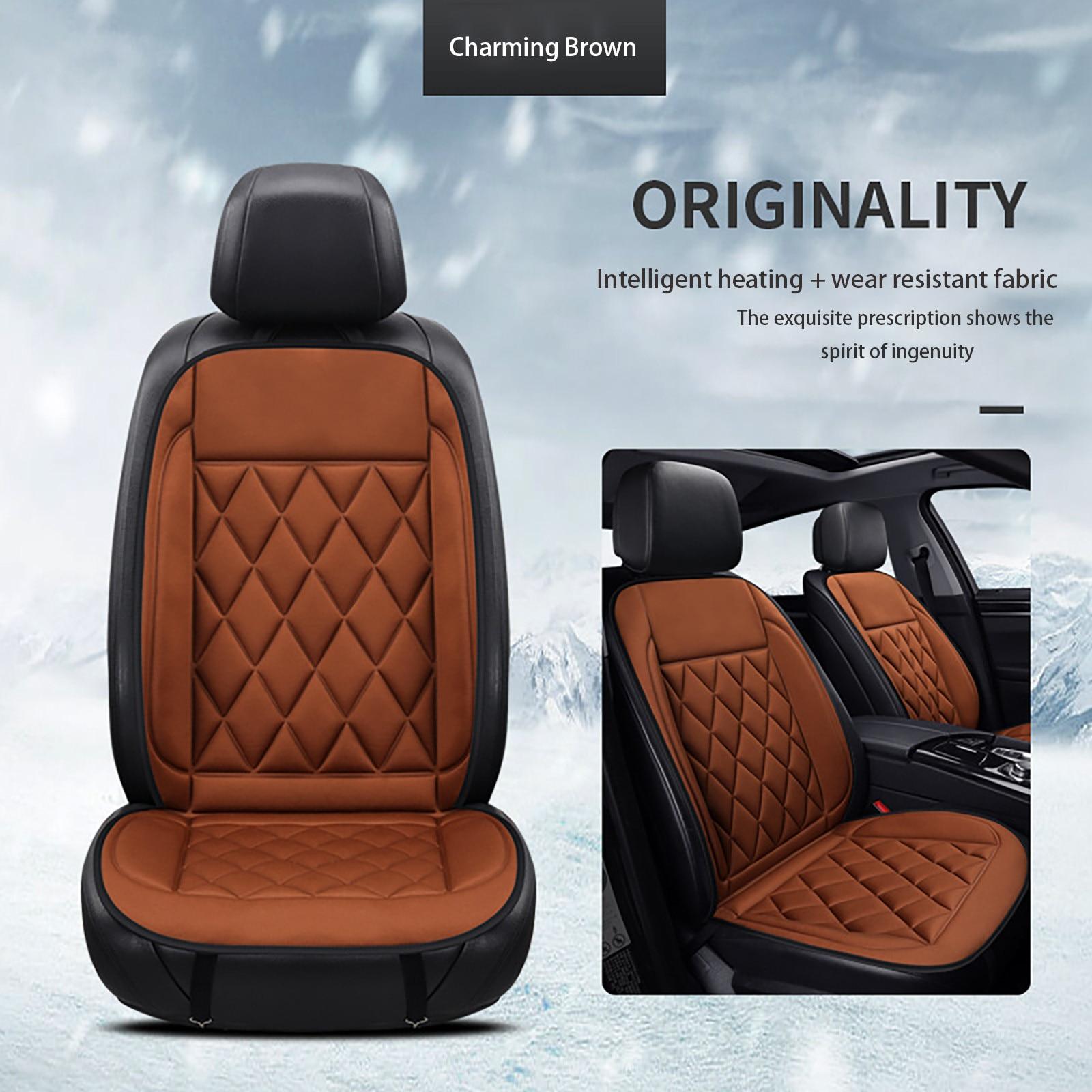 Housse de coussin chauffant pour voiture 12V hiver décoration intérieure de voiture chauffage électrique coussins chauds accessoires de voiture livraison directe