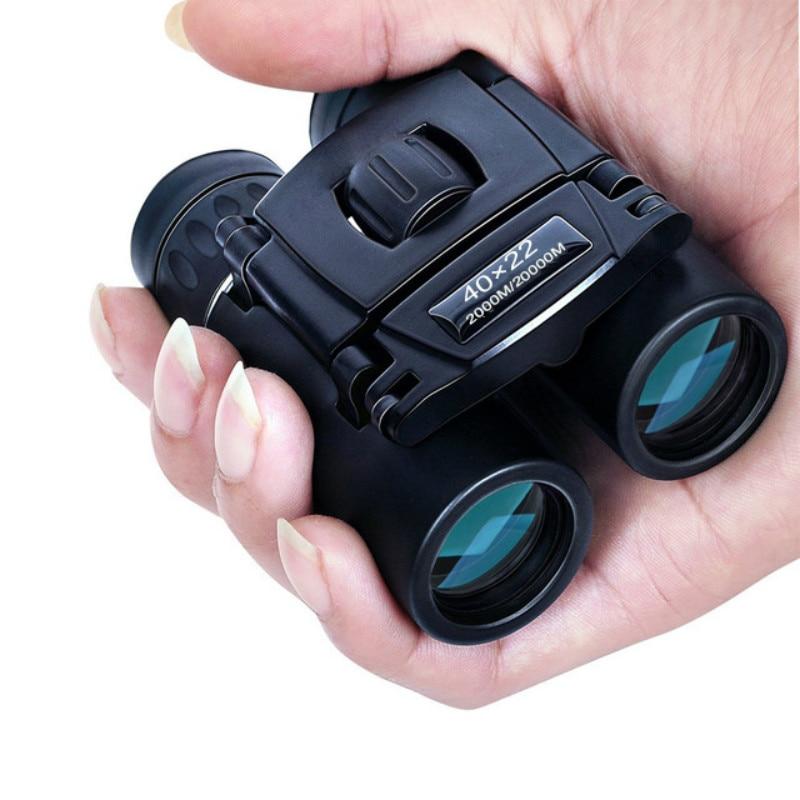 40x22 HD Powerful Binoculars 2000M Long Range Folding Mini Telescope BAK4 FMC Optics For Hunting Sports Outdoor Camping Travel