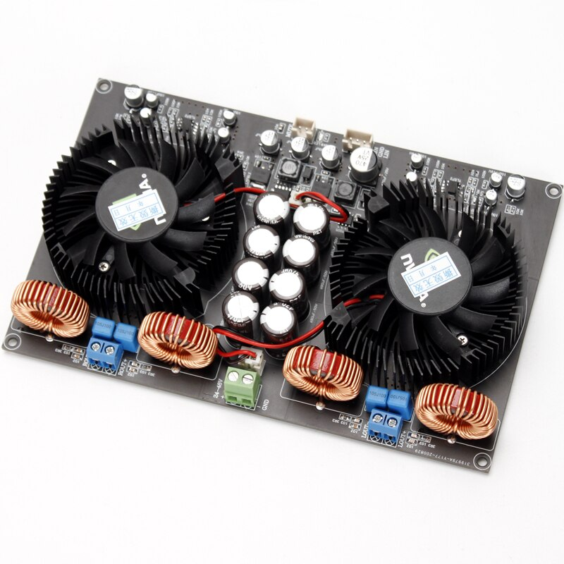 TPA3255 الرقمية الفئة D المزدوج رقاقة عالية الطاقة 2.0 مكبر كهربائي المجلس (مع مروحة التبريد) 600 واط + 600 واط