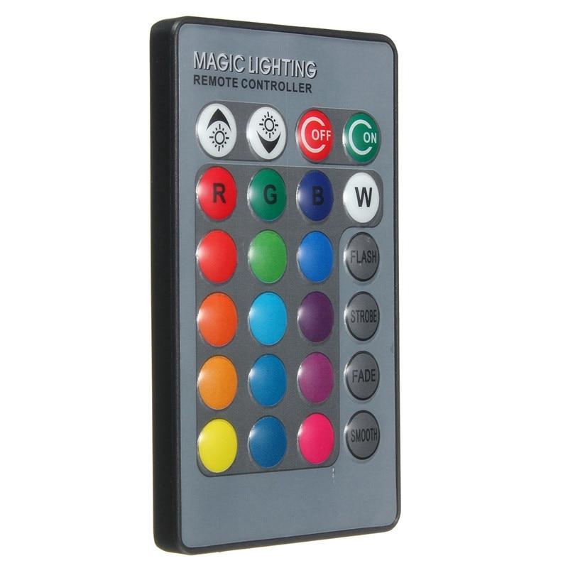 24 chaves Mini Controlador de Led RGB Controlador Remoto IR Sem Fio Para Lâmpadas Globo Luz RGB Lâmpada Tira Luzes LED Suporte dropship