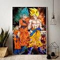 Японское аниме принт Dragon Ball Z постер Goku настенное искусство HD Картина на холсте картина для гостиной аксессуары для украшения дома - фото