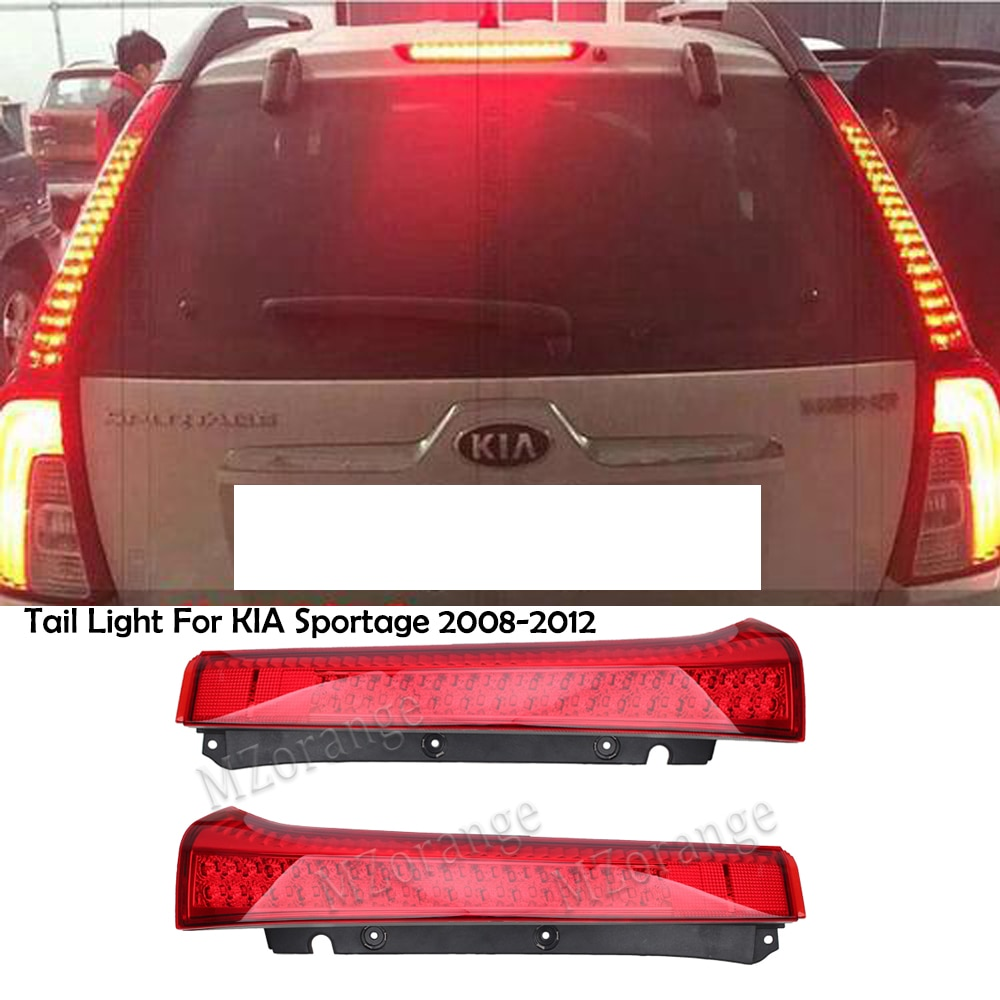 MZORANGE 1 Pair LED Tail Light For KIA Sportage 2008-2012 Rear Tail Lamp Fog Lamp Rear Bumper Reflector Tail light car assembly