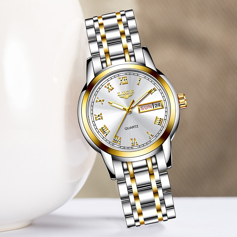 LIGE 2020 New Gold Watch Women Watches Ladies Creative Steel Women's Bracelet Watches Female Waterproof Clock Relogio Feminino enlarge