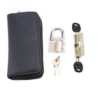 24pcs goso blue locksmith lock tool with transparent locks practice set hand tool pick tool hardware set