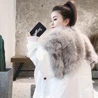 real fur coat women fox fur coat women clothes 2020 real fur parka warm winter coat womens clothing manteau femme bl 018 yy1068