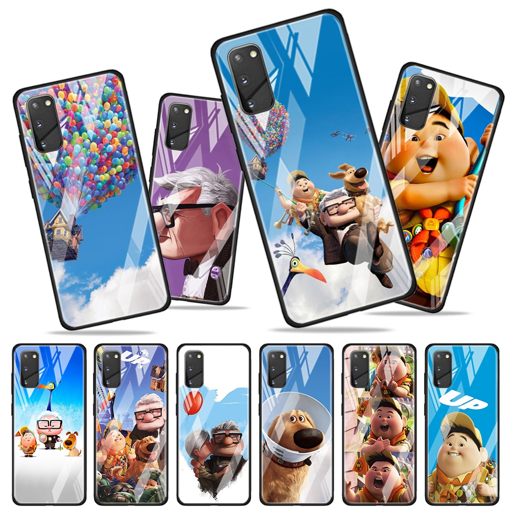 Up Disney movie for Samsung Galaxy S20 FE Ultra Note 20 S10 Lite S9 S8 Plus Luxury Tempered Glass Ph