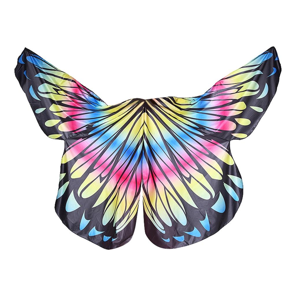 India coloridas alas de Ángel Isis brillan alas de baile accesorios de fiesta de niña