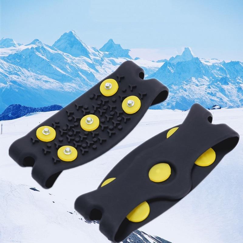 1 par de 5 tacos de nieve, hielo para escalada garra de, pinchos antideslizantes, tacos de crampón, cubierta de zapatos para mujeres y hombres, funda de botas Unisex