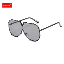 Fashion One Piece Shield Sunglasses Women Vintage Oversized Luxury Design Vintage Sun Glasses Men UV