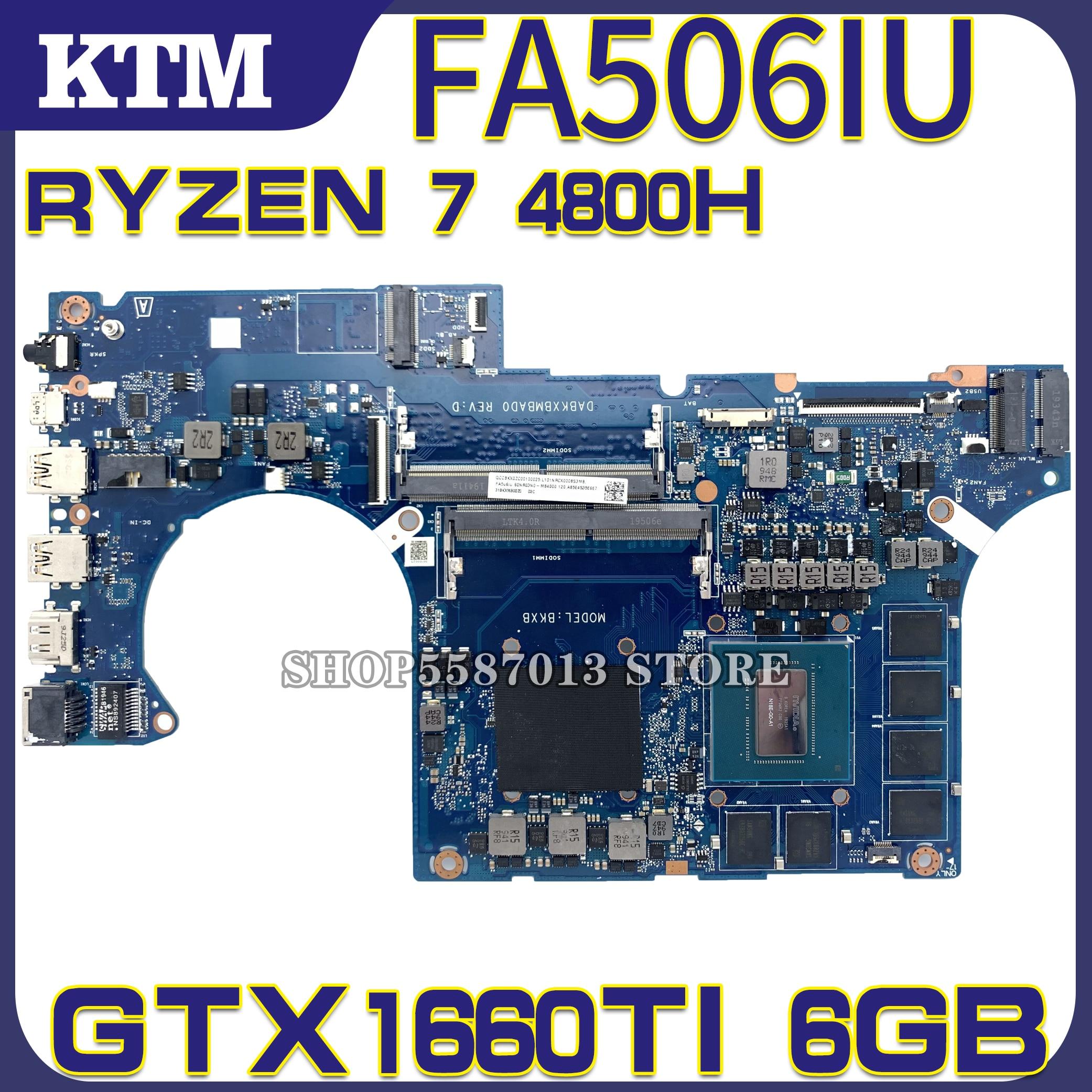 DABKXBMBAD0 placa base de Computadora Portátil para ASUS TUF de A15 FA506IU...
