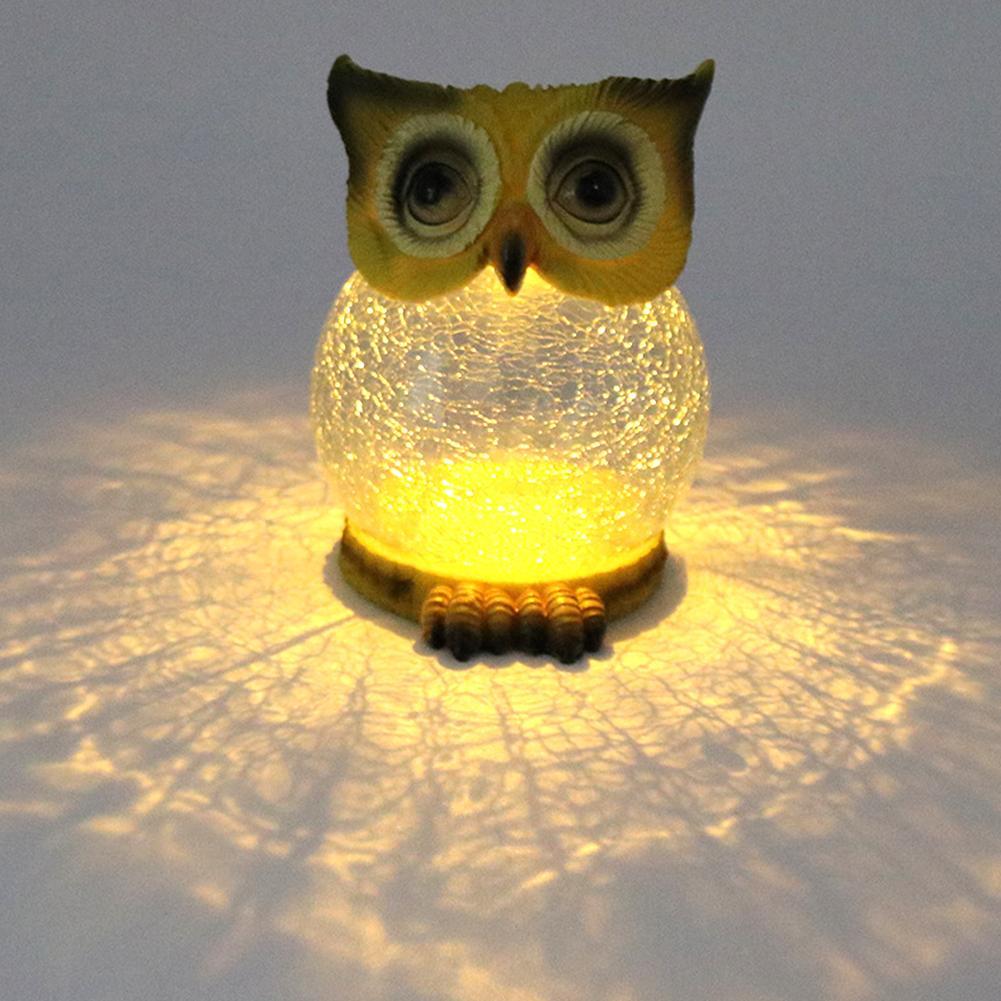 Lámpara LED Solar con forma de búho para césped, decoración de exteriores para jardín, lámpara para paisajismo, lámpara de péndulo de búho, lámpara para decoración de jardín