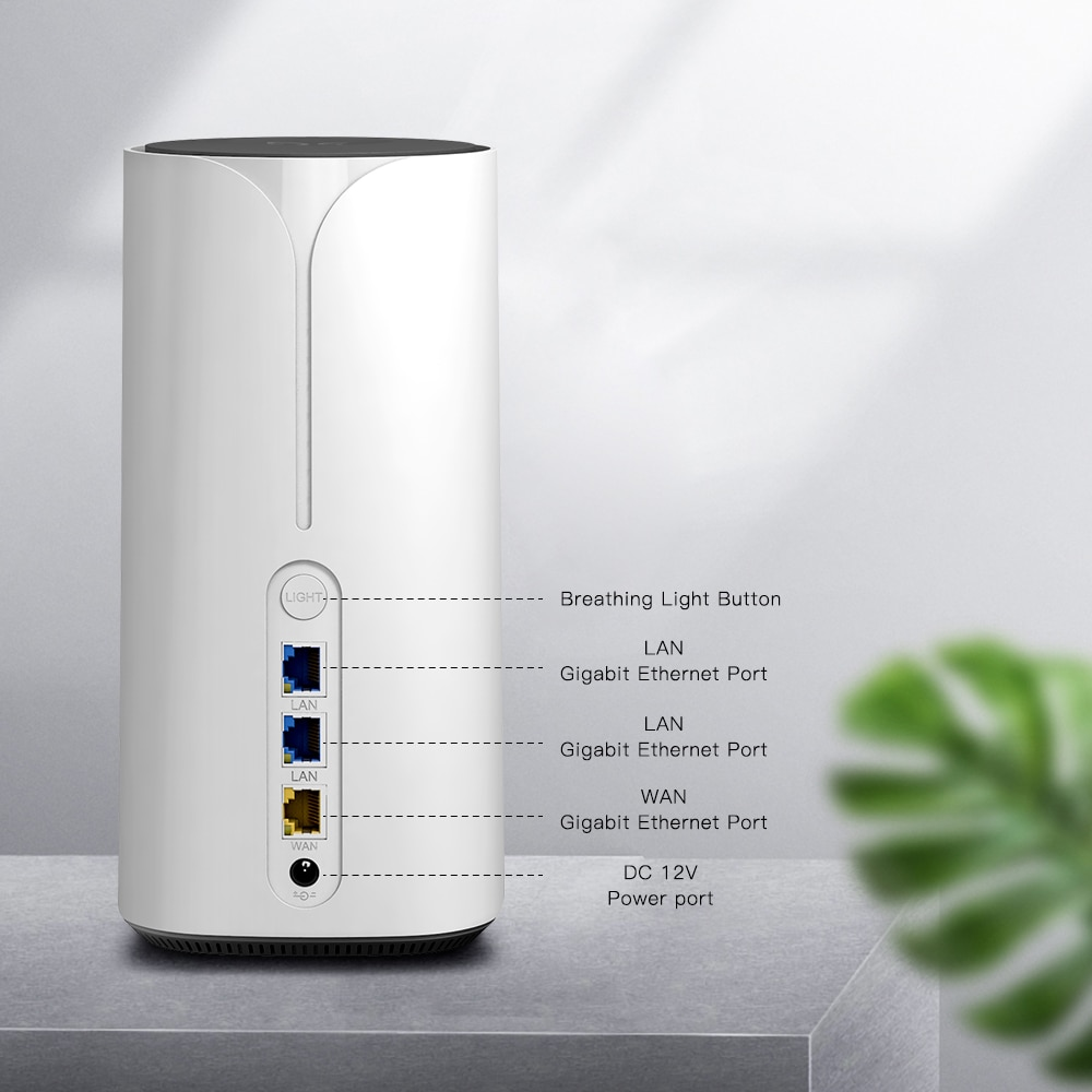 EDUP 5G CPE Wifi6 Smart Wireless Router Gigabit Port Dual Band Multi-Service Router 802.11ax 2.5Gbps Unlocked High Rate Gigabit enlarge