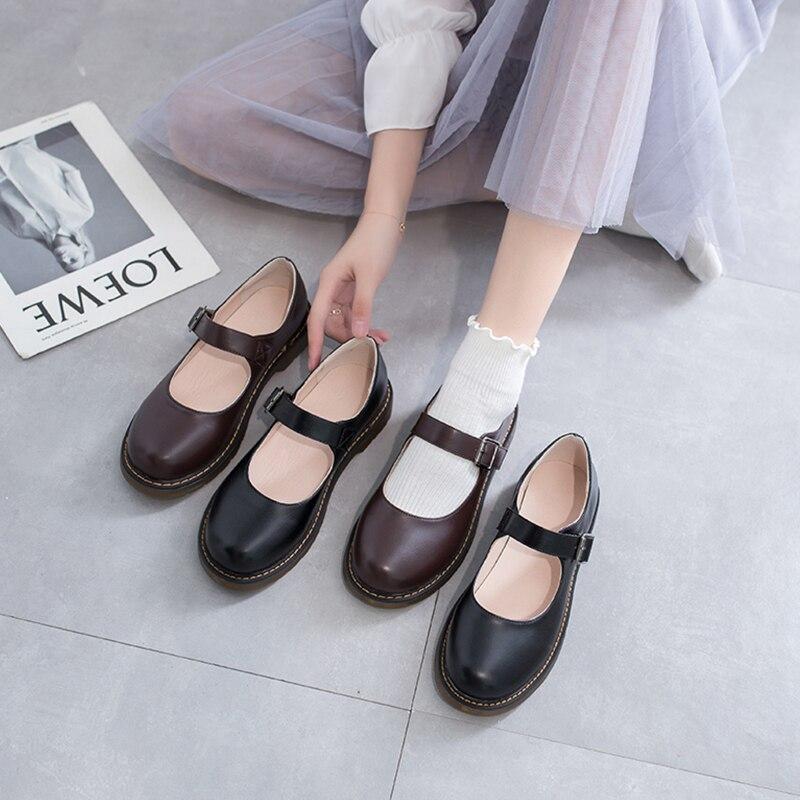 Japanese small leather shoes women's English spring student college style retro Mary Jane shoes soft sister basic jk uniform sho