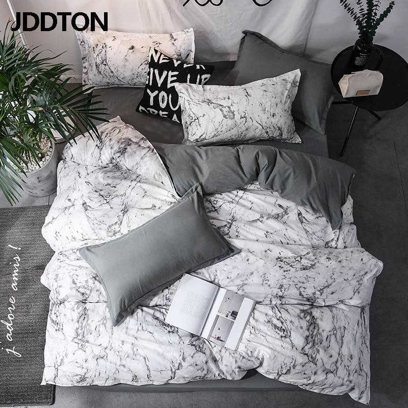 JDDTON New Arrival Clássica Dupla face Guarnições de Cama Estilo Conciso Conjunto de Cama Quilt Cover Cama Tampa Fronha 3 pçs/set BE031