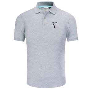 New Polo Shirt RF roger federer logo Cotton Polo shirt Short Sleeve High Quantity polo shirts