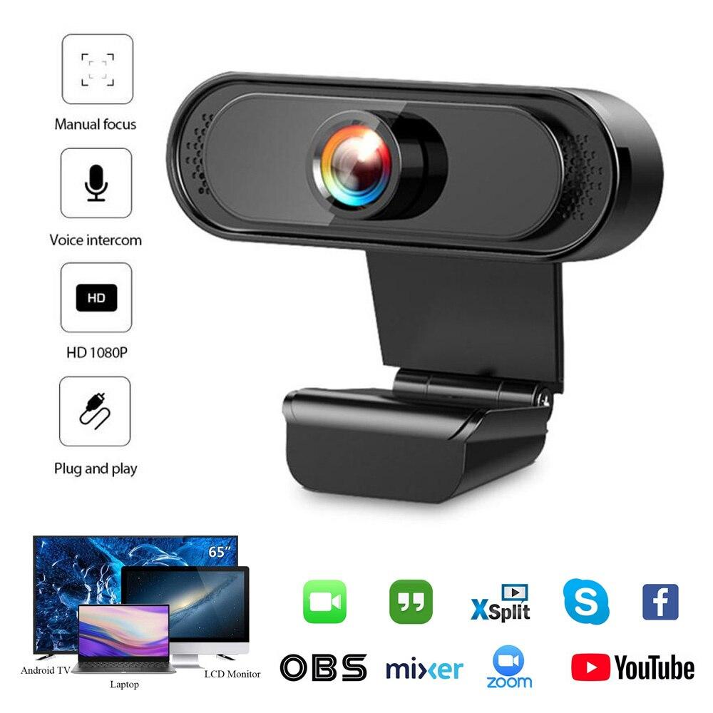 Фото - USB 2,0 оригинальная веб-камера Full HD 1080P, цифровая веб-камера с Mircophone для ПК, компьютера, ноутбука, веб-камера, камера веб камера