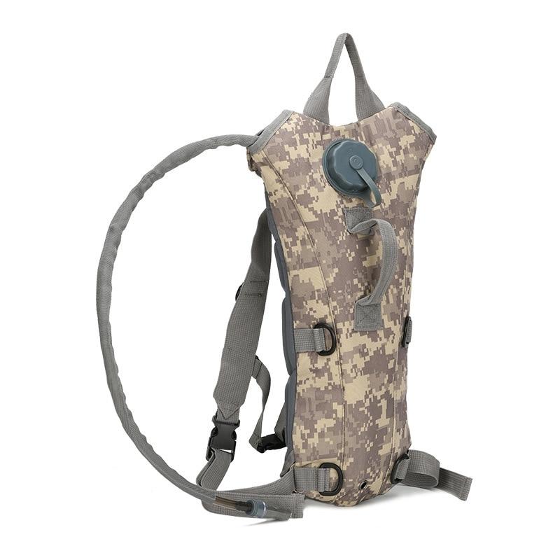 Mochila de hidratación táctica 3L bolsa de agua bolsa de botella de vejiga bolsa de supervivencia al aire libre escalada ciclismo equipo de Camping