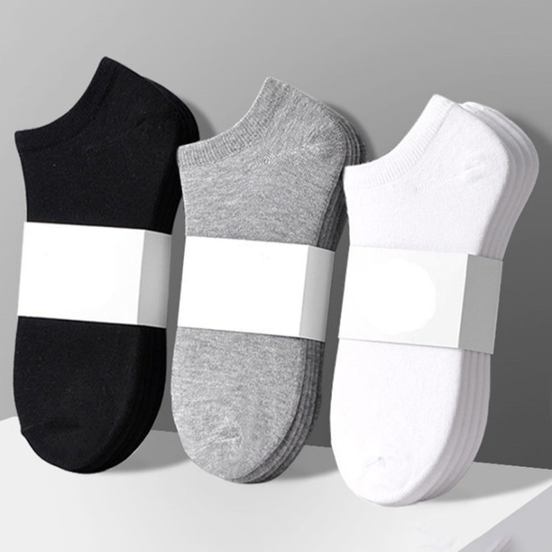 5 пар/лот однотонные Цвет носки для мужчин и женщин хлопковые короткие унисекс