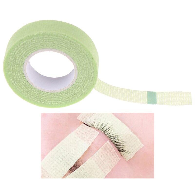 1 rolo verde médica não-tecido tecido cílios extensão fornecimento com furos respirável extensões de cílios falsos maquiagem ferramenta 4 estilos